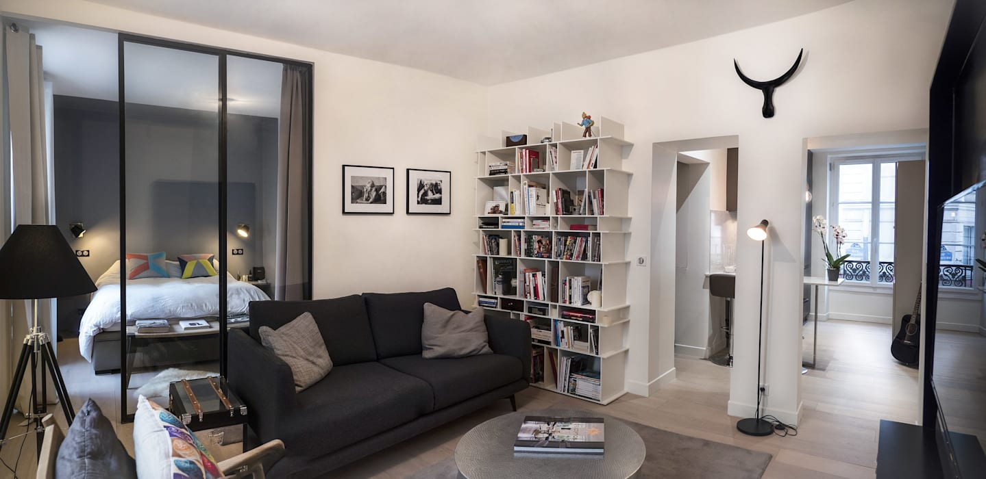 Salon moderne: Salon de style de style Moderne par Xavier Lemoine Architecture d'Intérieur