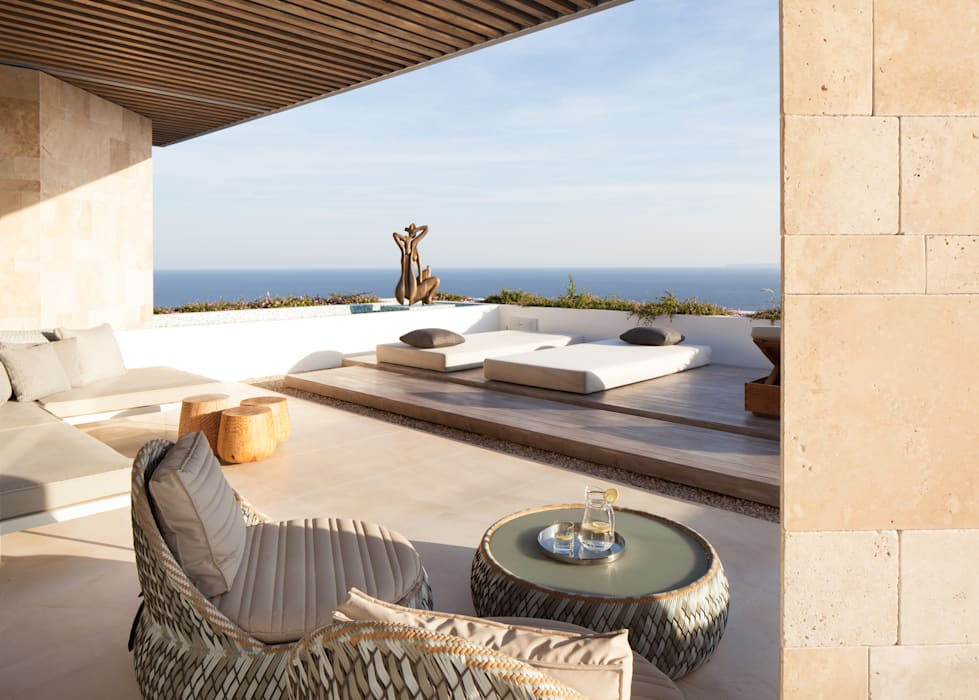 ARRCC Modern balcony, veranda & terrace