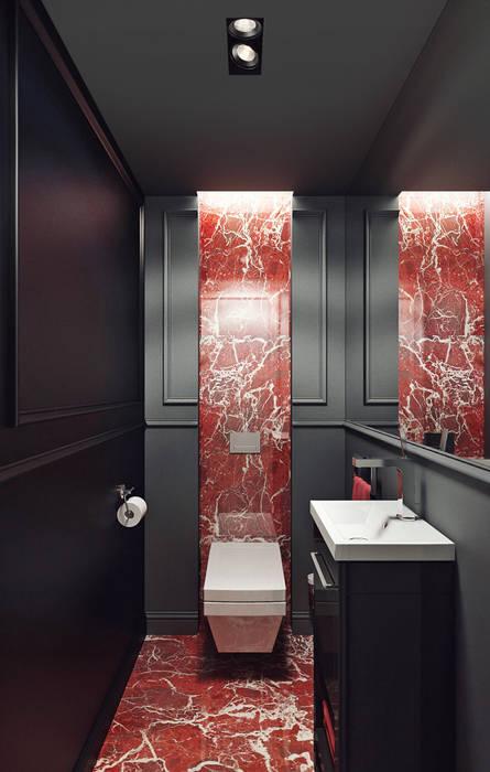 KAPRANDESIGN Eclectic style bathroom Stone Black