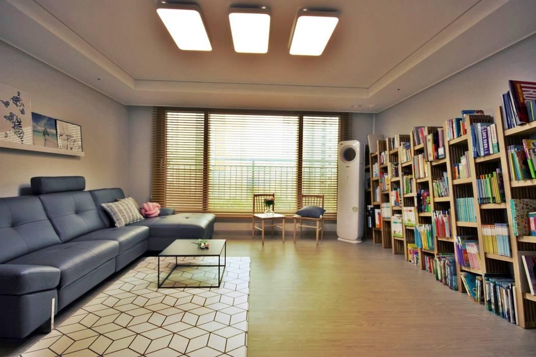 [홈라떼] 동탄 34평 새아파트 홈스타일링 - 거실 스칸디나비아 거실 by homelatte 북유럽