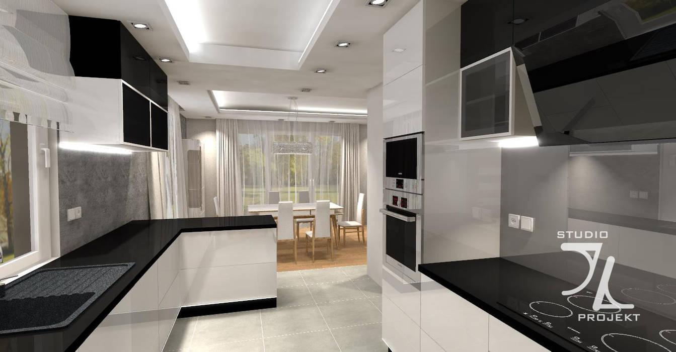 Kuchnia Biało Czarna Styl W Kategorii Kuchnia