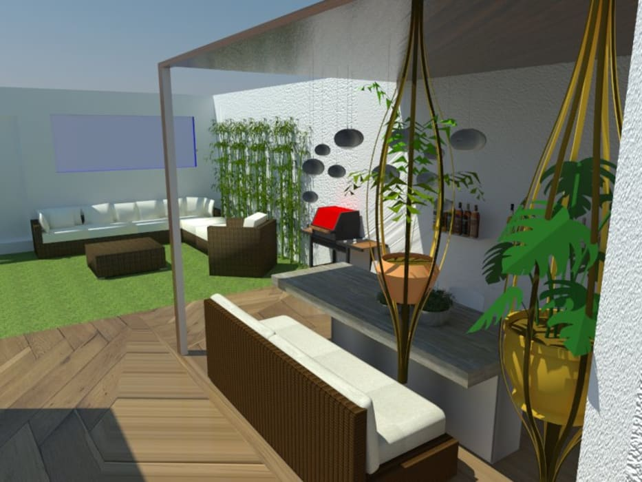 Estudio de Diseño Interior 陽台、門廊與露臺 家具