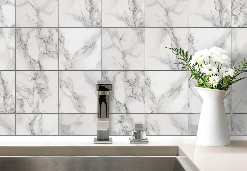 Fliesenaufkleber Marmor K&L Wall Art BadezimmerDekoration Kunststoff Grau