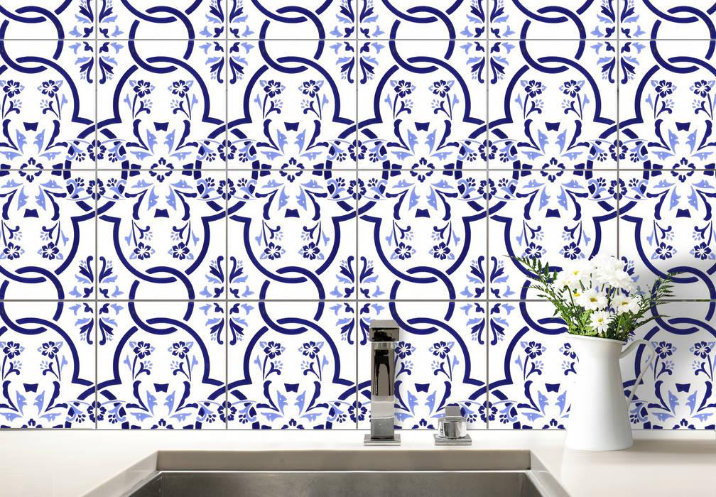 Fliesenaufkleber Portugal: modern  von K&L Wall Art,Modern Kunststoff Braun