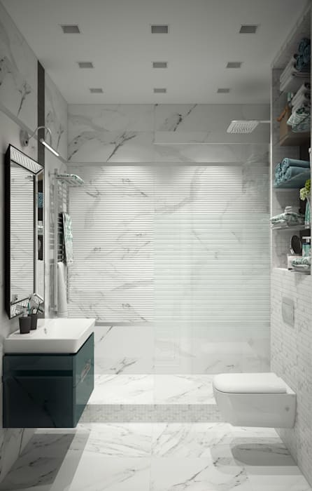 """Душевая комната """"for dad"""" Eclectic style bathrooms by СТУДИЯ 'ДА' ДАРЬИ АРХИПОВОЙ Eclectic"""