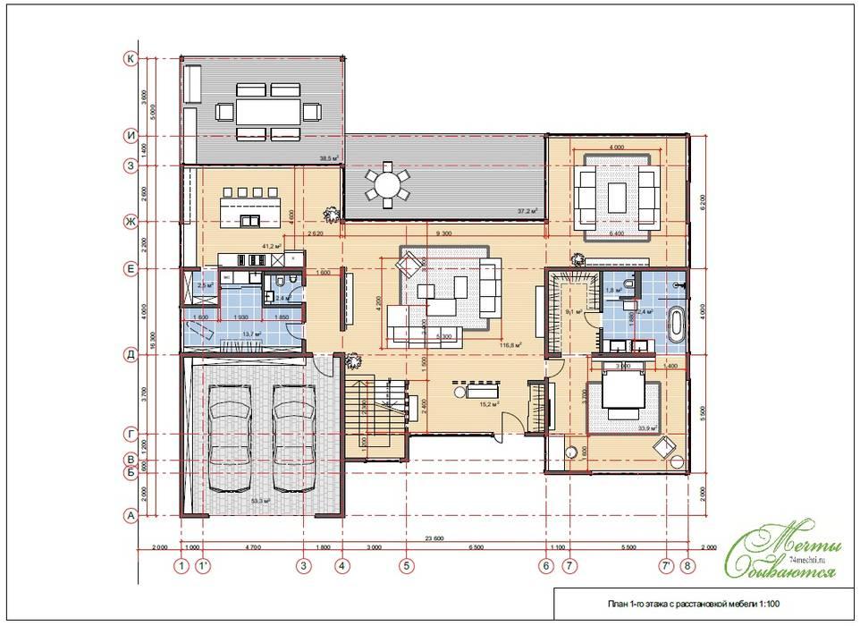 Проект жилого дома в штате Гавайи (США), о. Оаху г. Гонолулу: Дома в . Автор – Компания архитекторов Латышевых 'Мечты сбываются',