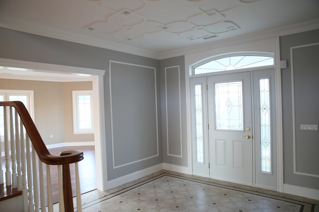homify 乡村风格的走廊,走廊和楼梯 複合木地板 Grey