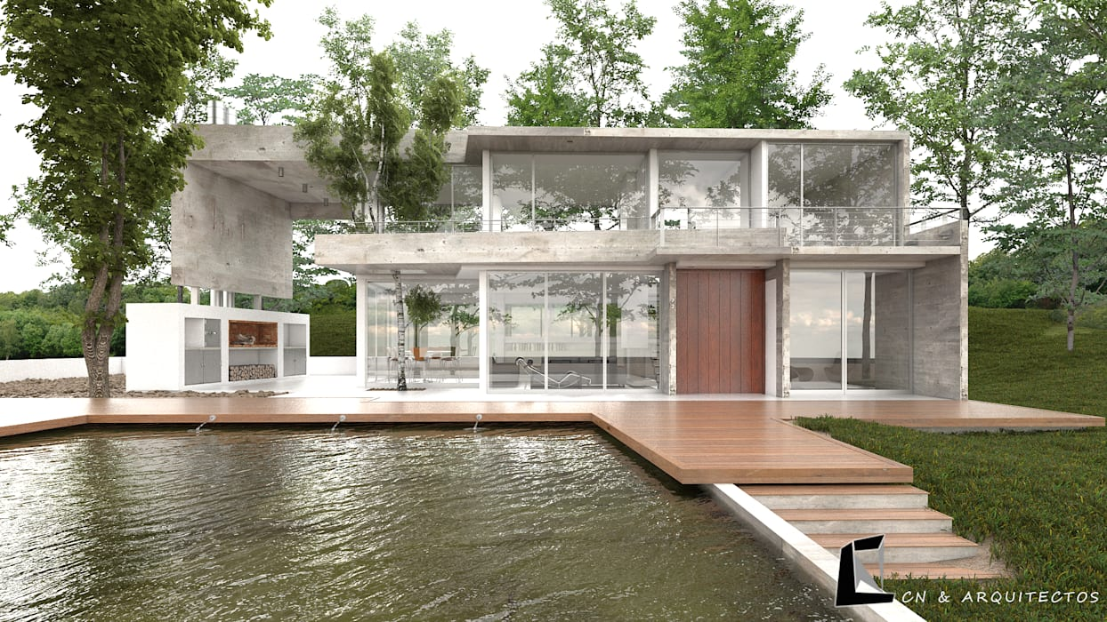 CASA VERANIEGA CN Casas modernas de CN y Arquitectos Moderno Concreto