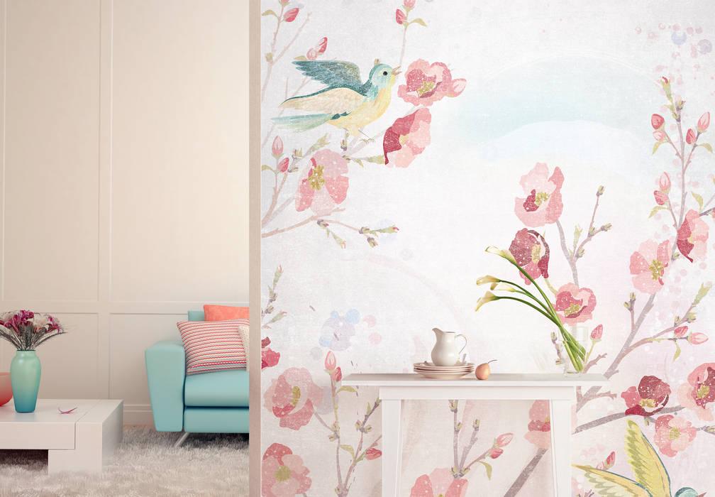 Fototapete Frühjahrsblüte: modern  von K&L Wall Art,Modern Kunststoff Braun