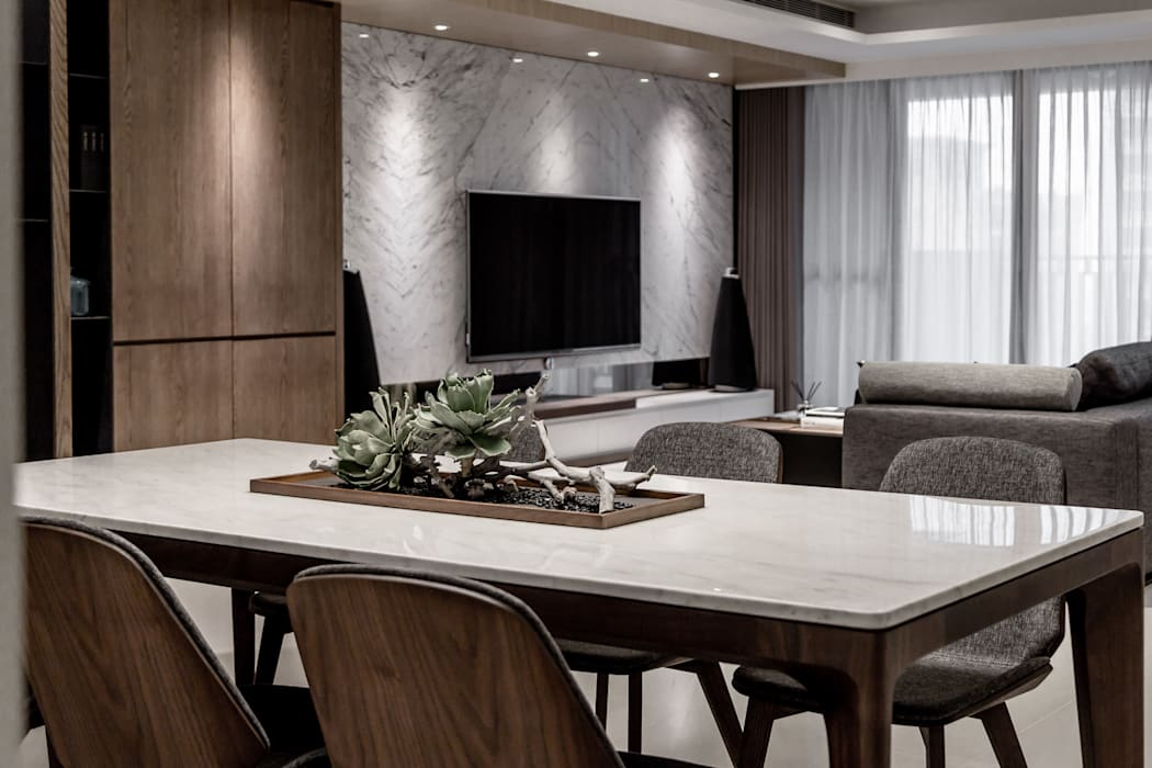Ruang Makan Modern Oleh 双設計建築室內總研所 Modern