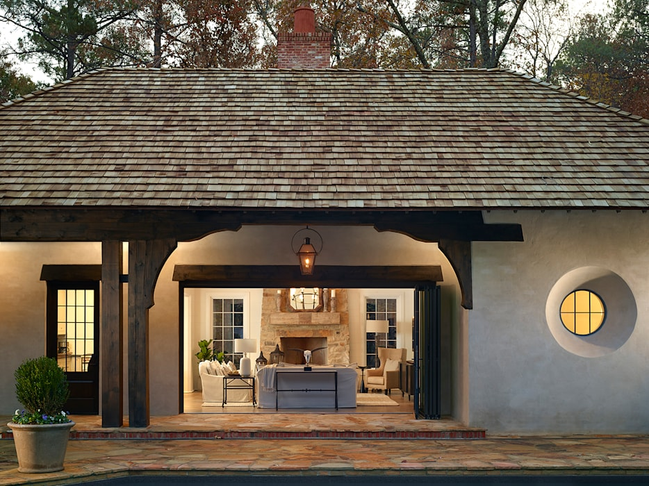 Pool House Exterior:  Pool by Christopher Architecture & Interiors, Country
