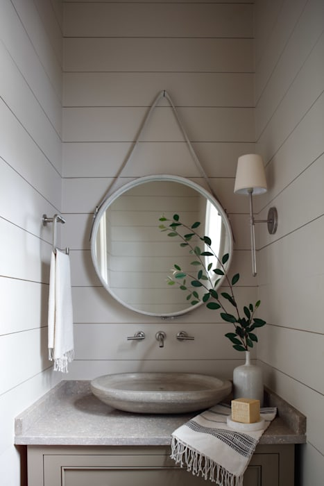 Rustic style bathrooms by Christopher Architecture & Interiors Rustic