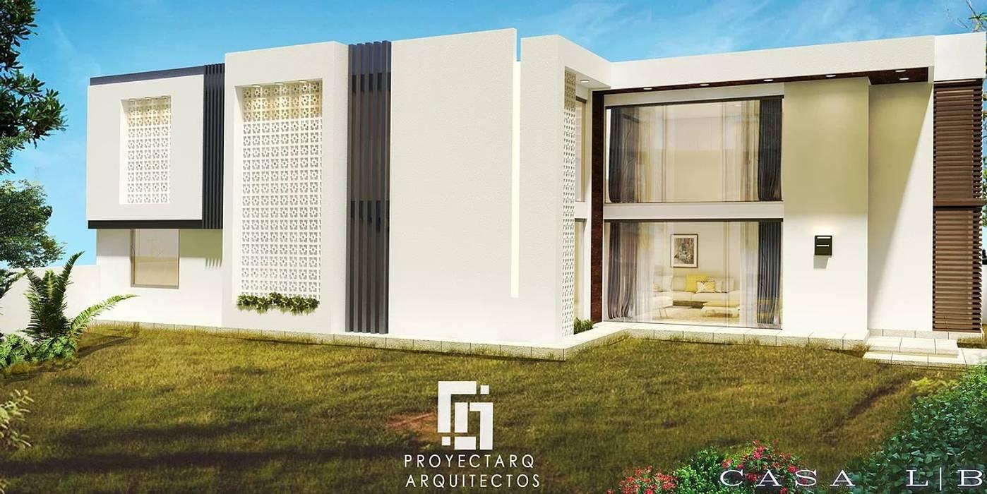 CASA LB: Casas de estilo moderno por PROYECTARQ | ARQUITECTOS