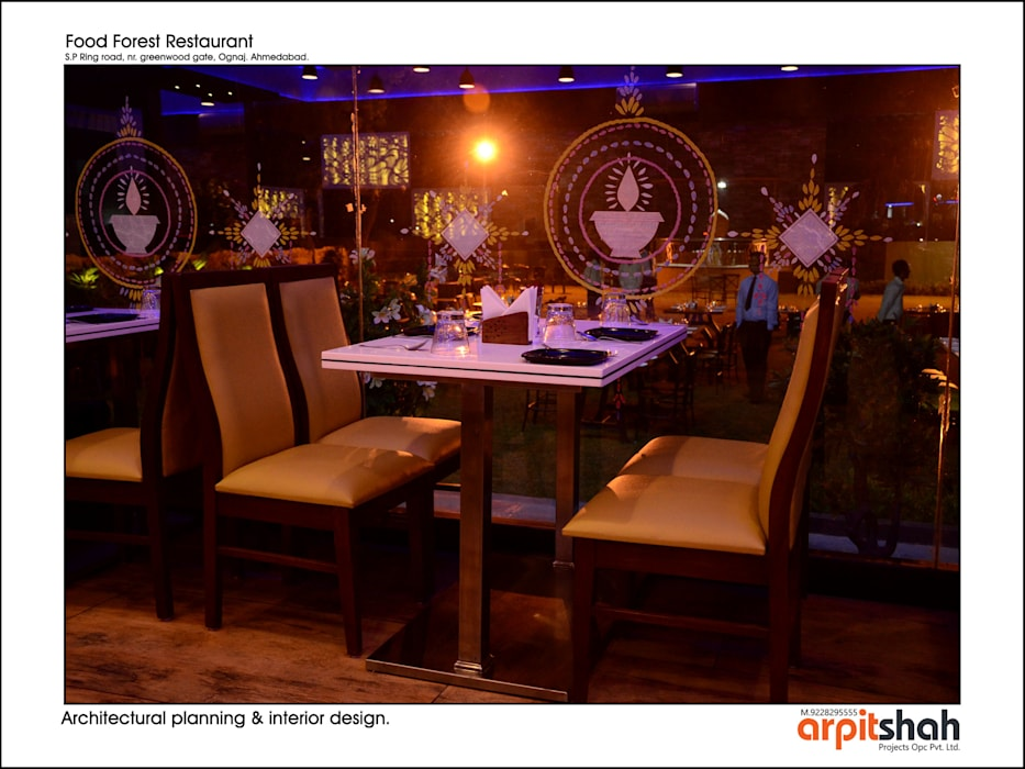 ​Food Forest Restaurant @ Ognaj Architectural Planning & Interior Design by ARPIT SHAH PROJECTS OPC PVT LTD. Classic