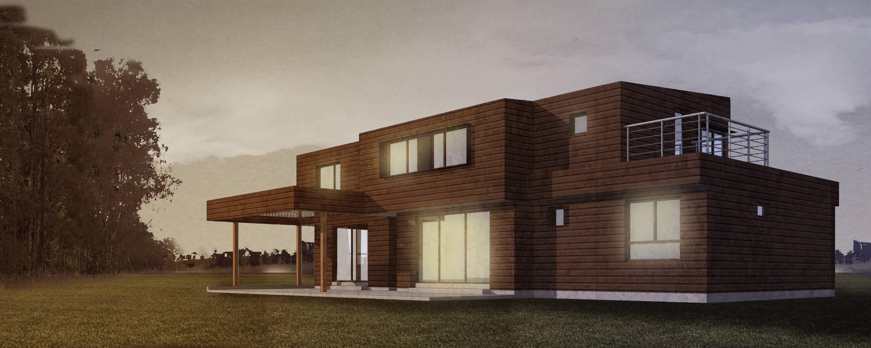 CASA NS Casas de estilo mediterráneo de EjeSuR Arquitectura Mediterráneo