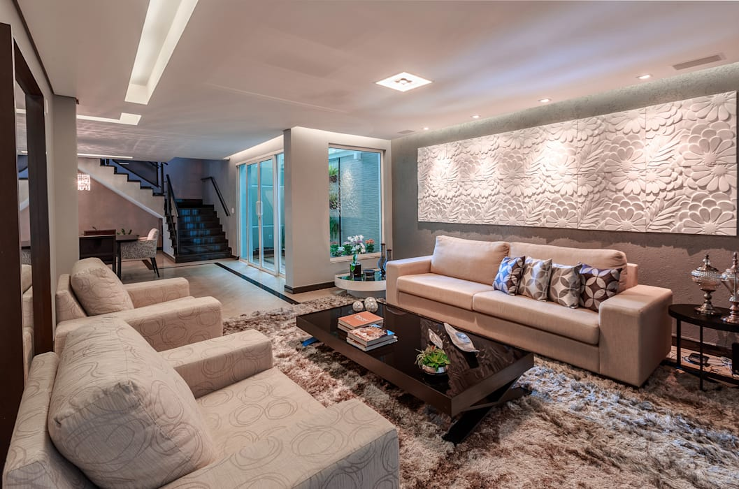 Salas de estilo minimalista de Das Haus Interiores - by Sueli Leite & Eliana Freitas Minimalista