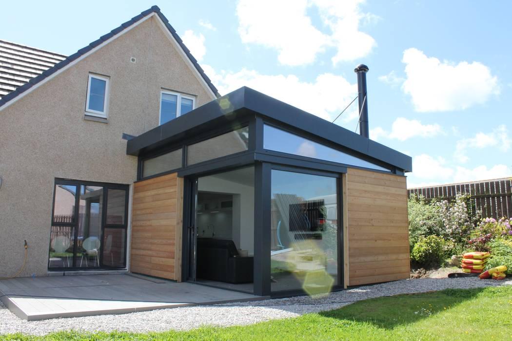 Dab Den House extension - Aberdeenshire Dab Den Ltd Modern Living Room