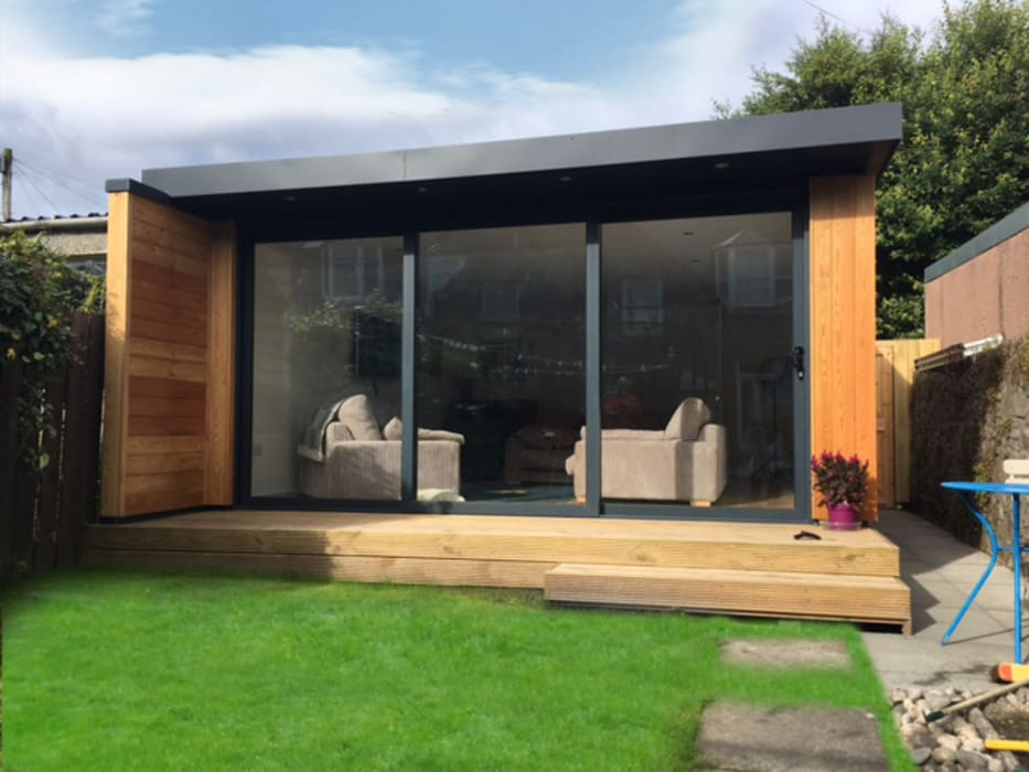 5m x 6m Garden room Dab Den Ltd Modern garden Wood