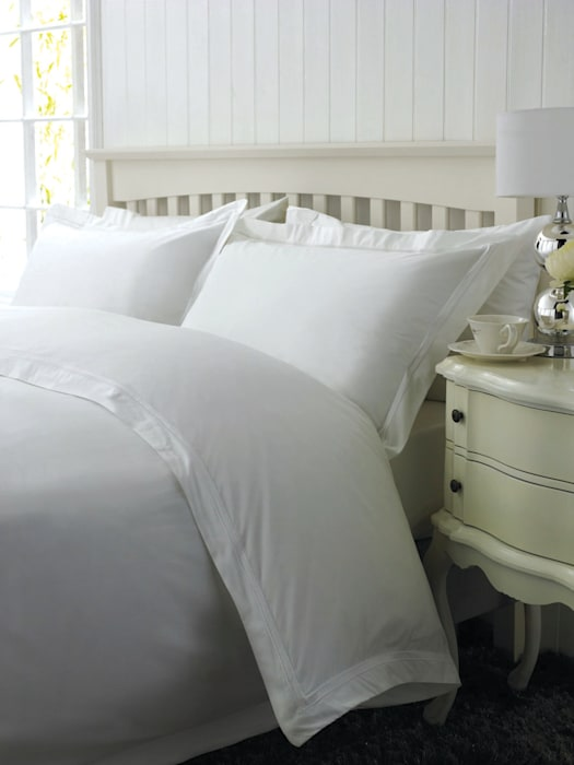 Boutique Quality Egyptian Cotton Percale King of Cotton BedroomTextiles Cotton White