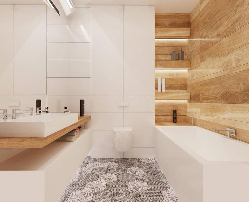 ห้องน้ำ โดย Ale design Grzegorz Grzywacz,