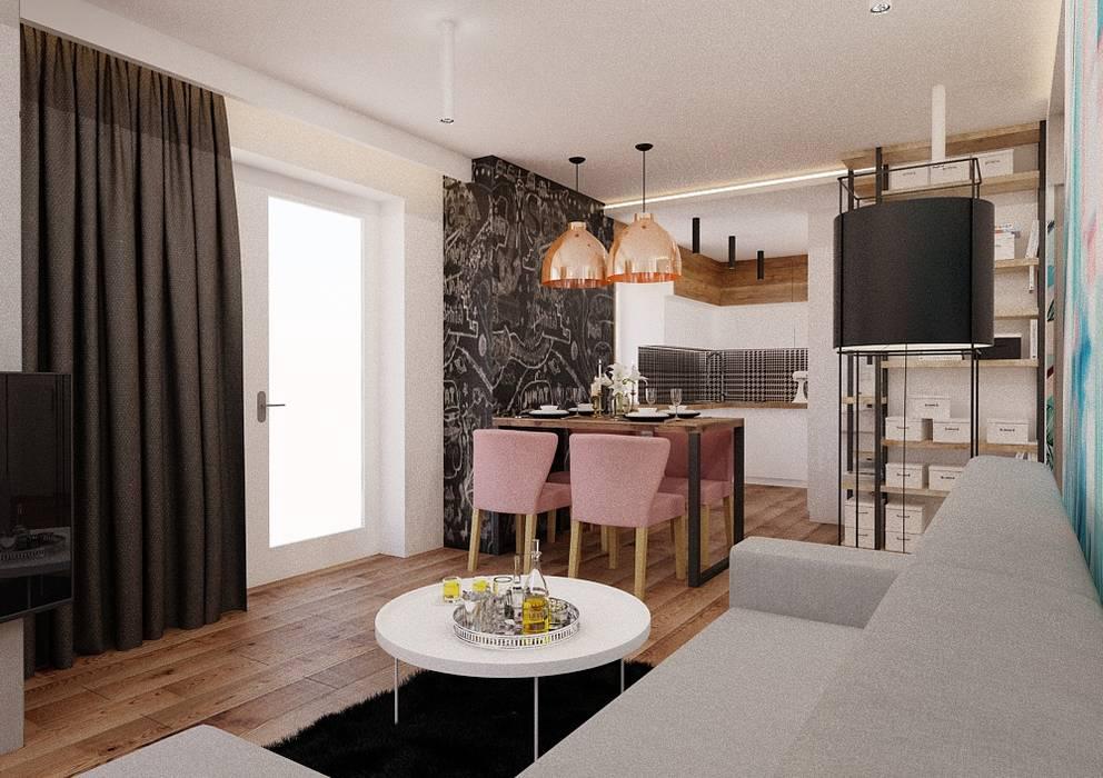 Ruang Keluarga Modern Oleh Ale design Grzegorz Grzywacz Modern