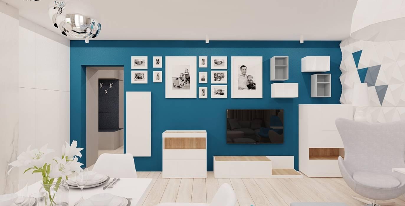 Scandinavian style living room by Ale design Grzegorz Grzywacz Scandinavian
