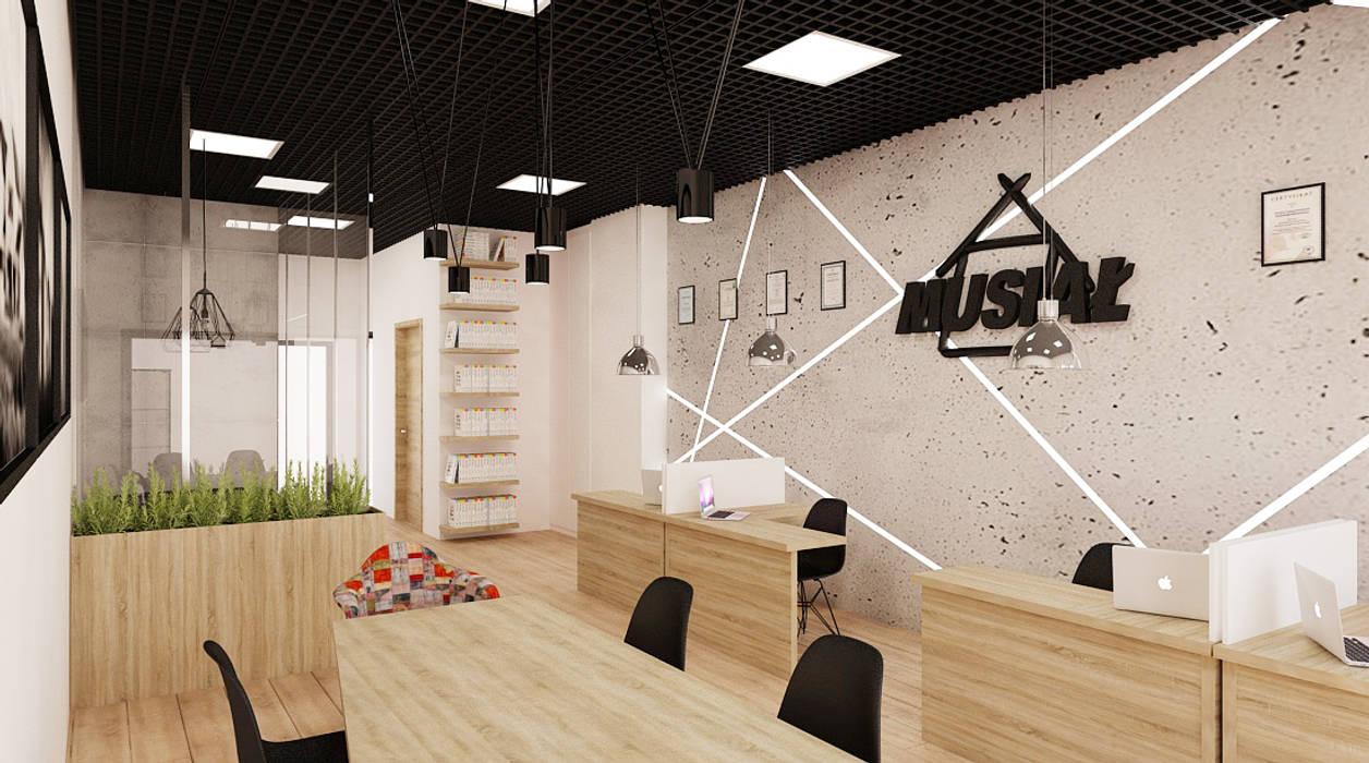 Ale design Grzegorz Grzywacz Minimalist study/office