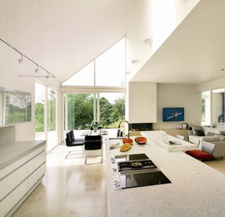 Open plan living kitchen in NI Modern kitchen by Jane D Burnside Architects Modern