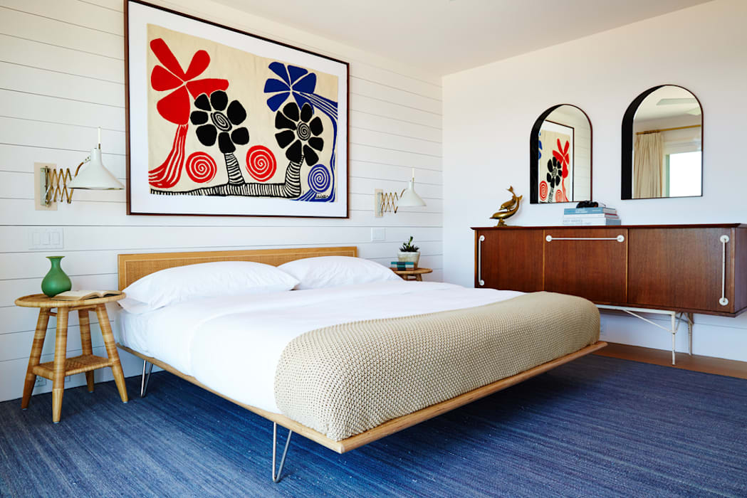 Old Montauk Highway House Modern Bedroom by SA-DA Architecture Modern