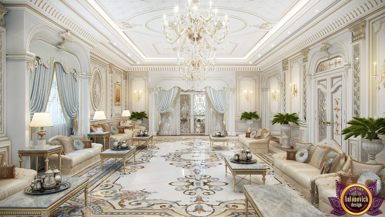 Luxury living room of Katrina Antonovich Classic style living room by Luxury Antonovich Design Classic