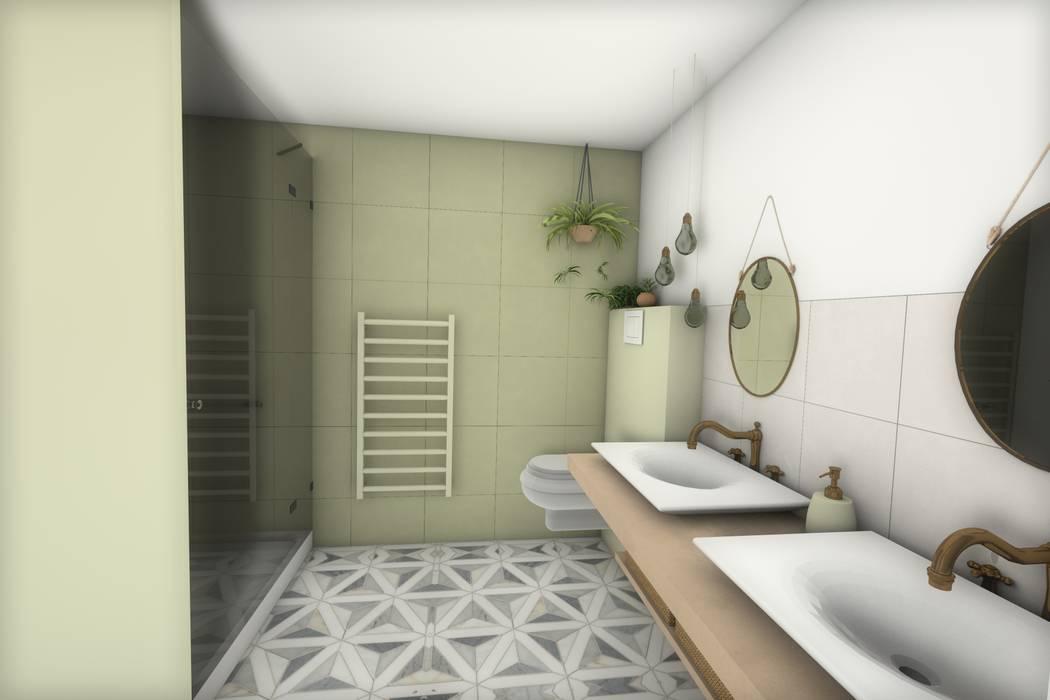 Salle de bain Salle de bain moderne par Dem Design Moderne