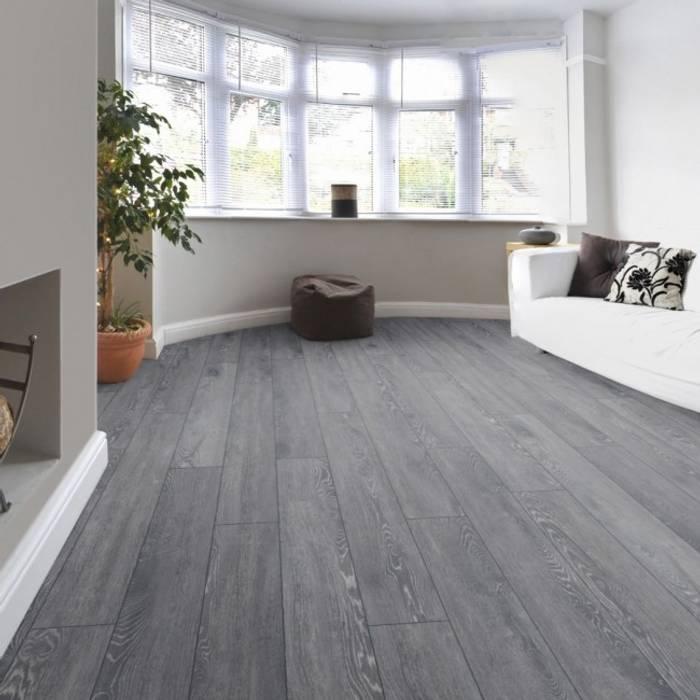 Pavimento laminato 8 mm. rovere grigio vintage ac5 made in ...