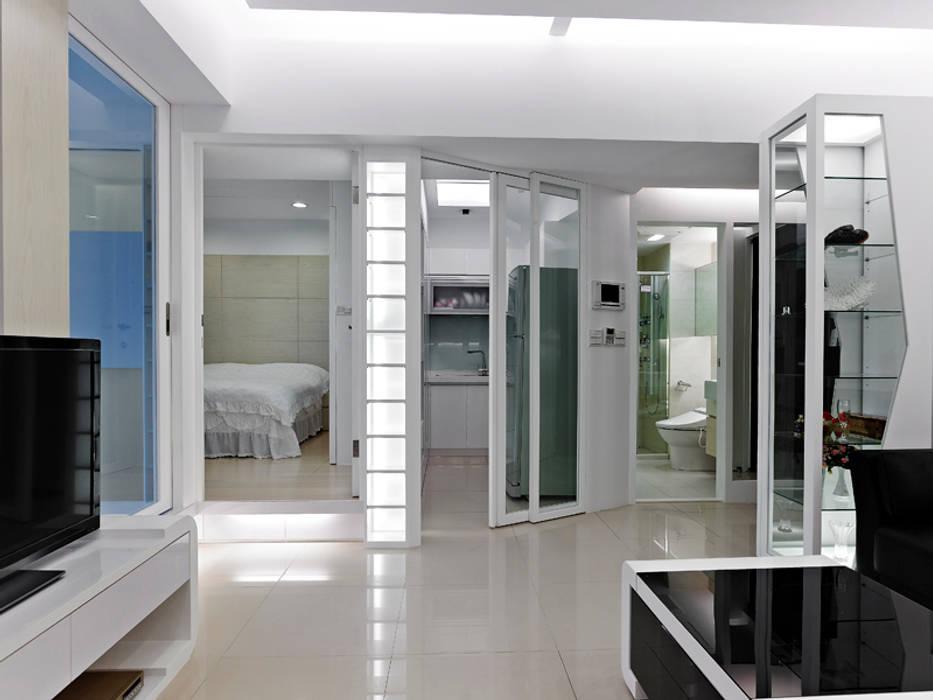 小坪數時尚精品屋 瓦悅設計有限公司 现代客厅設計點子、靈感 & 圖片