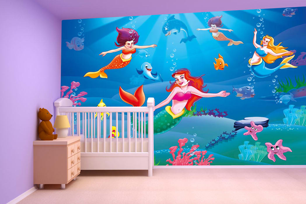 Cartoon Galaxy Fantasy Wallpaper Designs For Kids Room And
