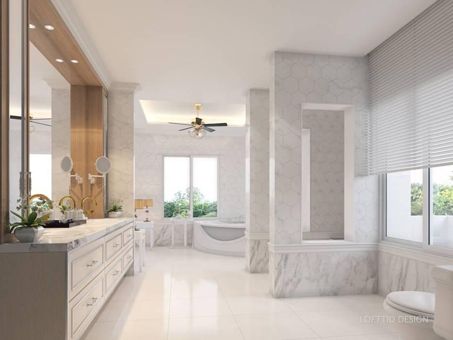 รับออกแบบ สร้างบ้าน และตกแต่งภายใน LOFTTID DESIGN ห้องน้ำของตกแต่ง
