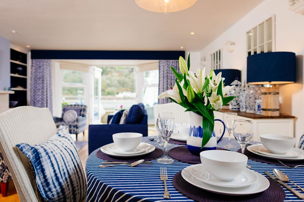 Blue Moorings, Dartmouth | Devon Eclectic style dining room by Perfect Stays Eclectic
