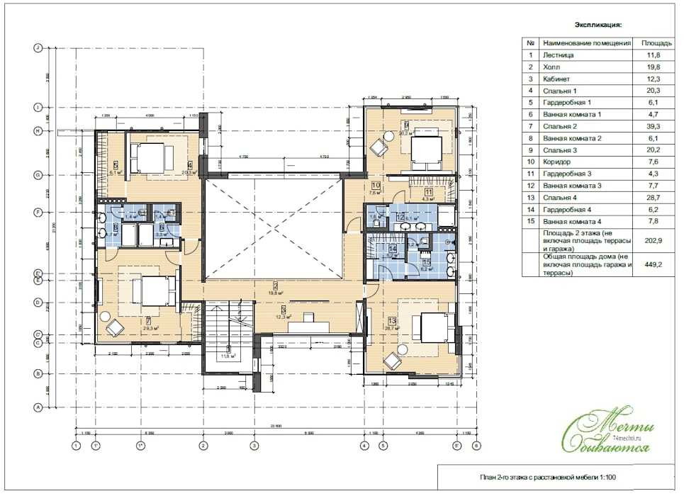 Проект жилого дома в штате Гавайи (США), о. Оаху г. Гонолулу Дома в средиземноморском стиле от Компания архитекторов Латышевых 'Мечты сбываются' Средиземноморский