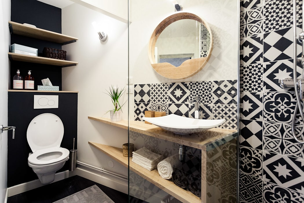 Skandynawska łazienka od MadaM Architecture Skandynawski
