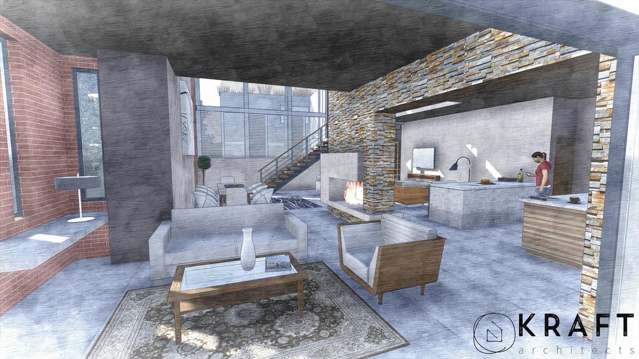 House Bouwer Modern living room by Kraft Architects Modern