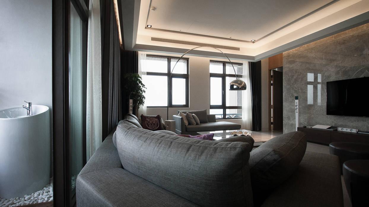 Living room by 璞碩室內裝修設計工程有限公司, Modern