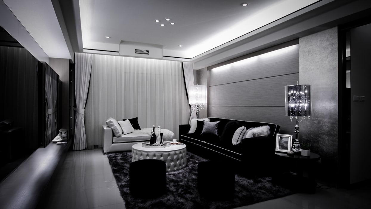 BRAVO INTERIOR DESIGN & DECO CHIC STYLE 现代客厅設計點子、靈感 & 圖片 根據 璞碩室內裝修設計工程有限公司 現代風
