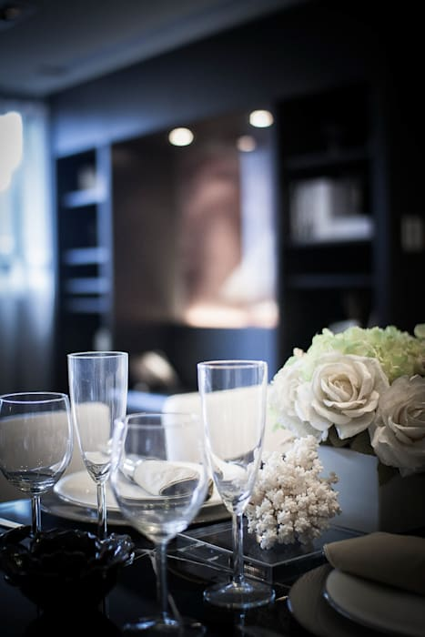 BRAVO INTERIOR DESIGN & DECO CHIC II STYLE 璞碩室內裝修設計工程有限公司 现代客厅設計點子、靈感 & 圖片