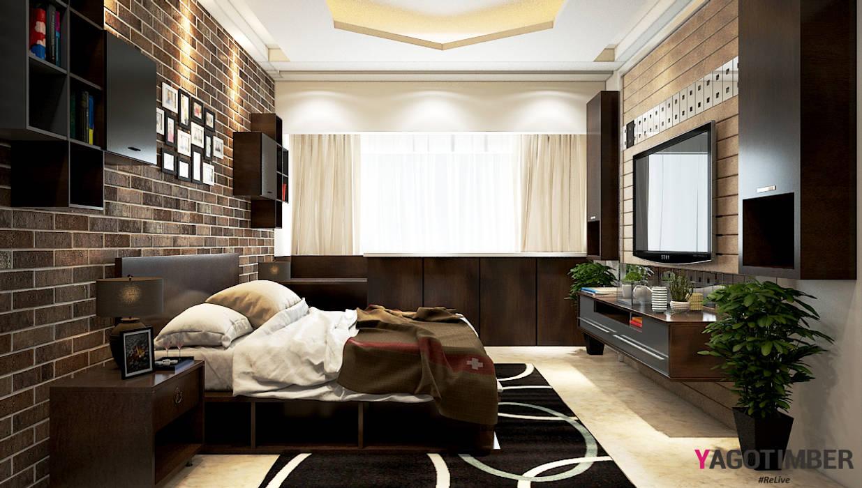 Bedroom Design 1: rustic  by Yagotimber.com,Rustic