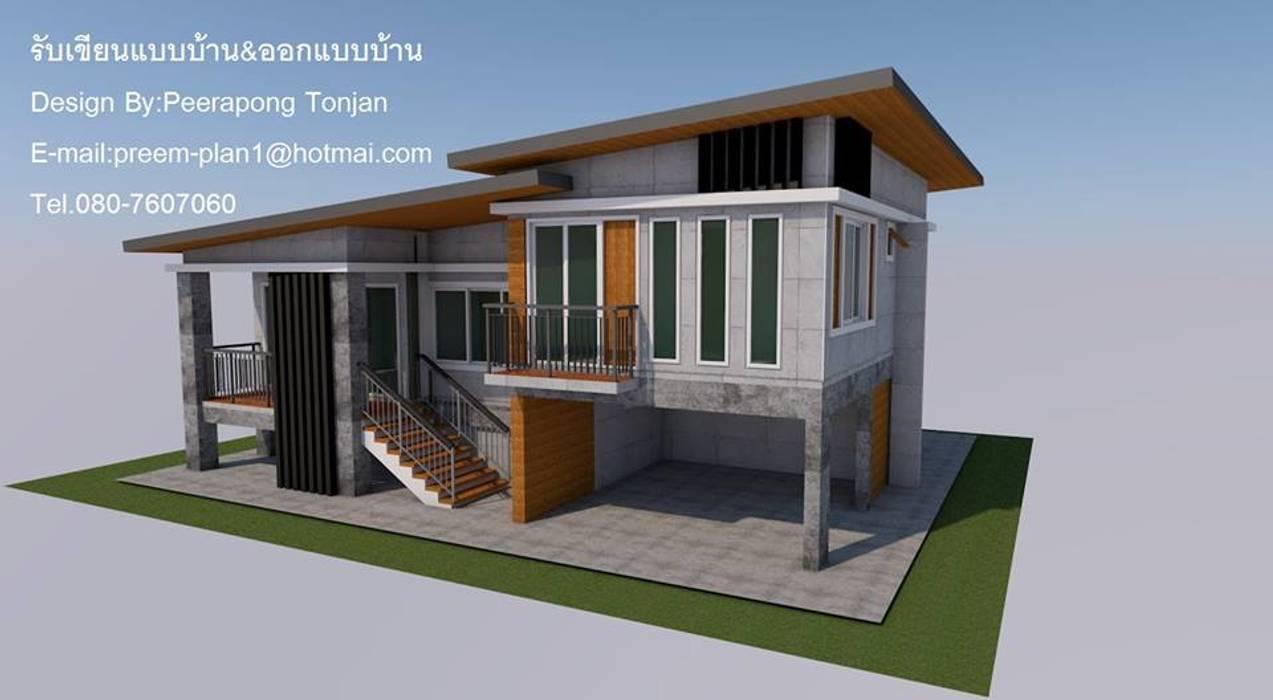 Modern Evler รับเขียนแบบบ้าน&ออกแบบบ้าน Modern Beton