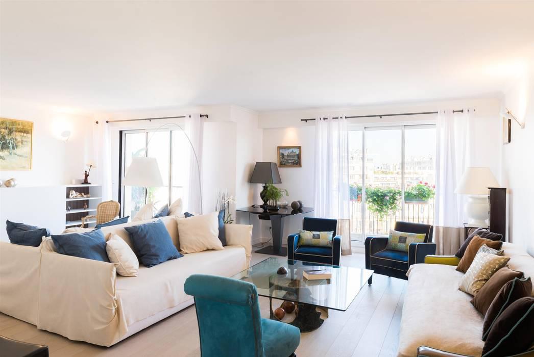 Un Appartement Moderne Entre Blanc Et Bois Salon Minimaliste
