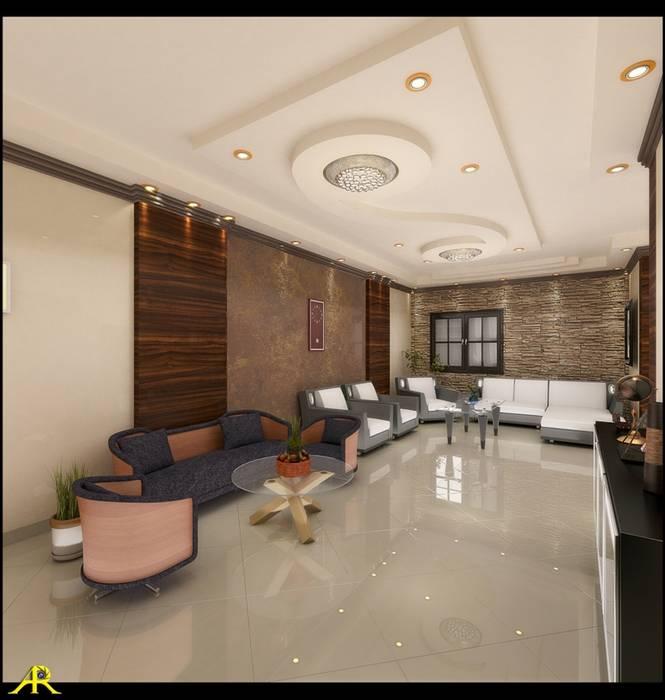 شقة بتصميم مصري من Etihad Constructio & Decor إنتقائي