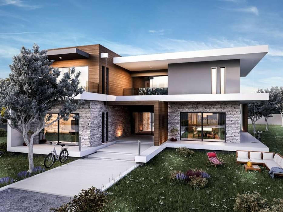 VERO CONCEPT MİMARLIK – Güzelbahçe Villa:  tarz Evler, Modern