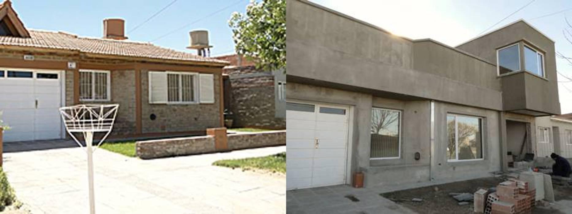 Remodelacion de vivienda: Casas de estilo moderno por Lineasur Arquitectos