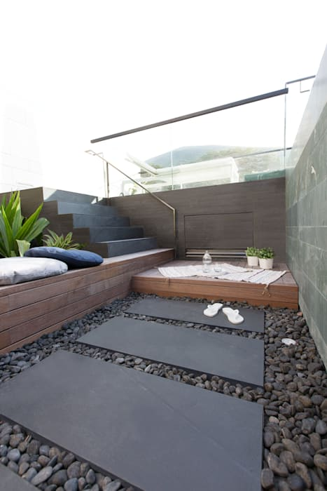 Be anywhere you want:  Garden by Sensearchitects Limited, Modern Stone