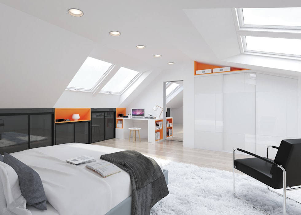 Amenagement Sous Pente Chambre De Style Par Mkl Moderne